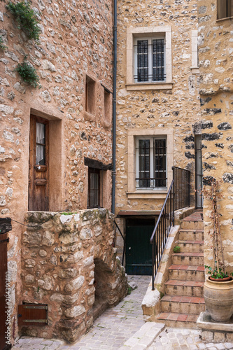 Patio in old French town