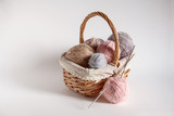 basket with colored tangles - 204394612