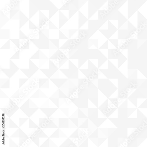 Fototapeta Abstract geometric background design with grey & white tones.