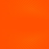 Orange halftone and perspective background - 204401214