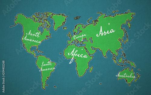 recznie-rysowane-doodled-prosta-mapa-swiata-z-nazwami-kontynentu