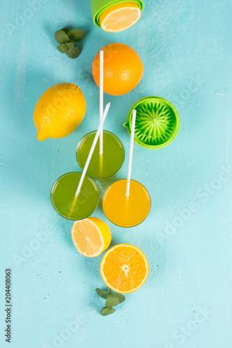 Orzeźwiające napoje ze świeżych owoców