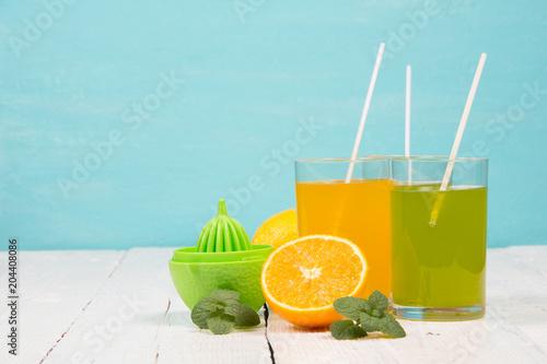 Refreshing drinks from fresh fruit