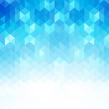 Abstract blue geometric shapes, vector background. - 204408406