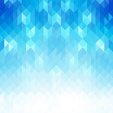 Abstract blue geometric shapes, vector background. - 204408812