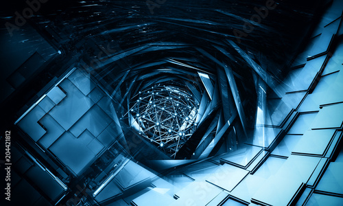 3D rendering of abstract technology background