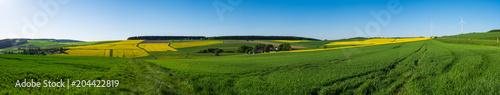 Panorama der Taunusslandschaft im Frühsommer