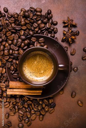 Canvas Koffiebonen caffè espresso aromatizzato