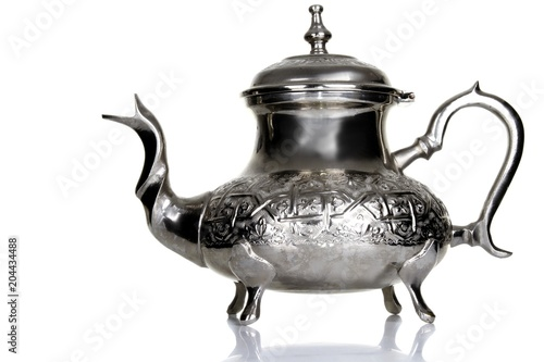 Moroccan teapot with white background