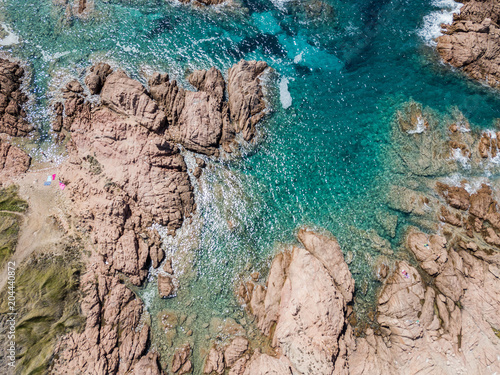 Fotobehang Toscane Aerial view of tuscany coast and sea