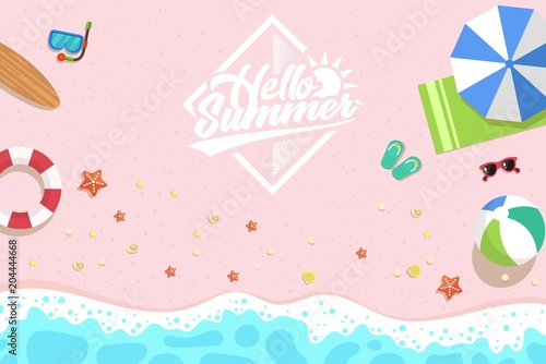 Summer holiday tropical beach background - 204444668