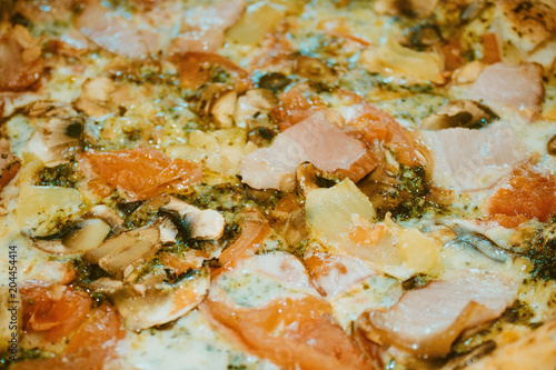 Plexiglas Pizzeria Appetizing pizza.