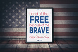 Land of the Free because of the Brave - 204455662
