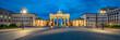 Leinwanddruck Bild - Brandenburger Tor Panorama am Pariser Platz, Berlin, Deutschland