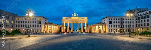 Leinwanddruck Bild Brandenburger Tor Panorama am Pariser Platz, Berlin, Deutschland