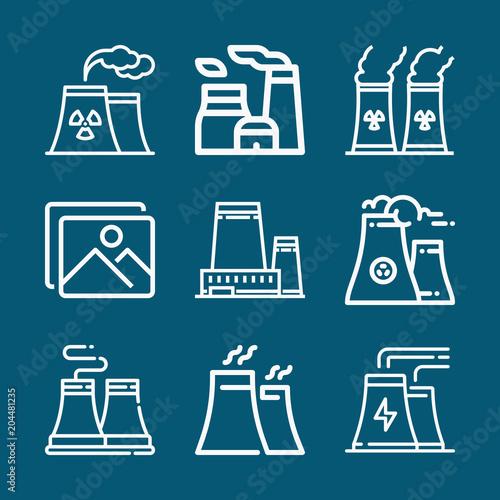 Set of 9 landscape outline icons