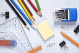 stationery, school, office, Accounting, ruler, pencil, paper clips, business - 204482434
