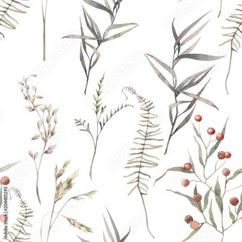 akwarela-suchych-ziol-wzor-recznie-malowane-tekstury-z-elementami-botanicznymi-rosliny-trawa-jagody-paproc-liscie-naturalne-powtarzajace-sie-tlo