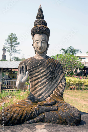 Canvas Boeddha Buddha in Thailand Temple