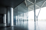 empty hall with glass wall - 204501644