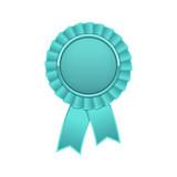 Cyan award rosette with ribbon - 204506682