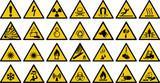 warning sign vector set of triangle yellow warning signs.   - 204509473