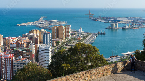 Views of Malaga from the castle of gibralfaro