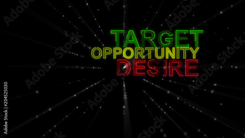 Target, Desire, Opportunity as Concept Words