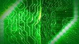 Intricate Objects In Green Circuit Board - 204525288