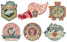 Vintage College Athletic Sporting Department  Badge And Patch  For Print Or Embroidery Sticker