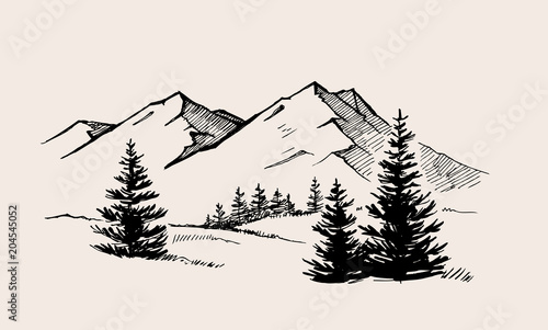 mountain landscape nature - 204545052