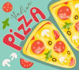 Italian Pizza Poster - 204545859