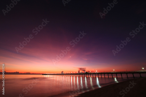 Plexiglas Strand Beautiful sky on twilight time