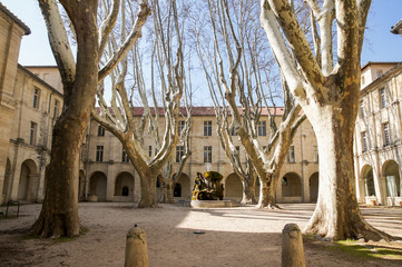An ancient French courtyard. © German S