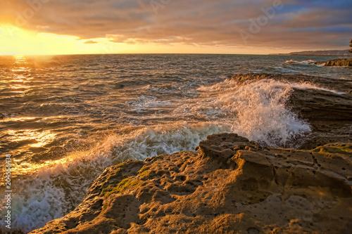 Aluminium Zee zonsondergang Sunset Cliffs Natural Park