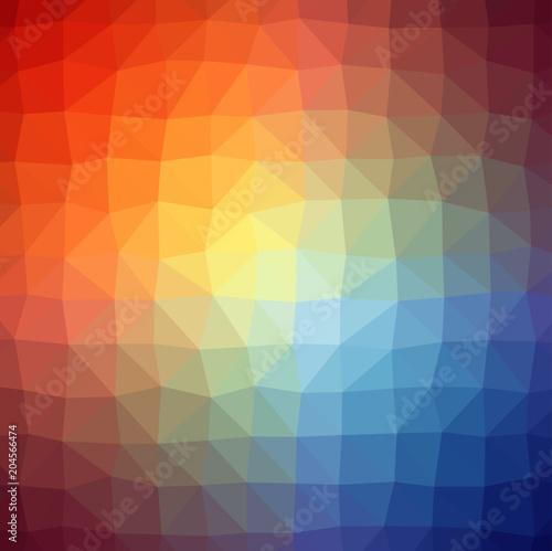 Farbenfroher LowPoly Hinterdrund