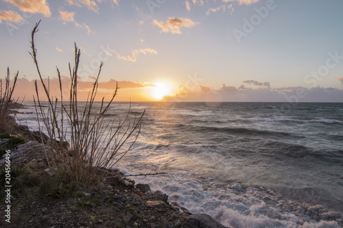 Aluminium Zee zonsondergang Sunset from Sicily