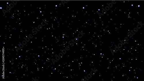 stars sky night vector illustration - 204574495