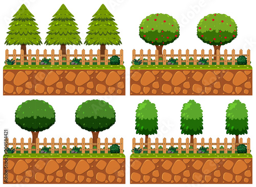 Fridge magnet Different Tree in the Garden Element