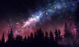 Night forest scene - 204585650