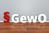 German Law GewO abbreviation for trade Regulations 3d illustration Gewerbeordnung - 204585883