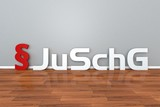 German Law JuSchG abbreviation for Youth Protection Act 3d illustration Jugendschutzgesetz - 204588294