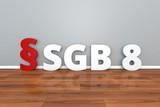 German Law SGB 8 abbreviation for Social Code Eighth Book 3d illustration Sozialgesetzbuch - 204592457