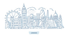 London City Cityscape Sticker