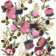 Botanical floral pattern with field flowers for design. Ideal for fashion fabric designs