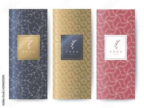 Fototapeta Branding Packaging Flower nature background, logo banner voucher, spring summer tropical, vector illustration
