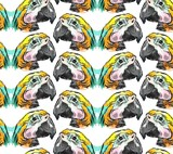 Tropical jungle seamless pattern with parrot bird on white background - 204633015