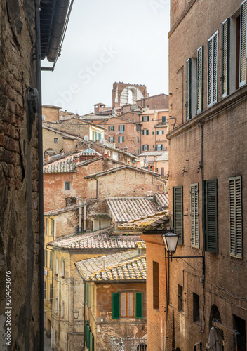 Streets of Siena, Tuscany © Vollverglasung
