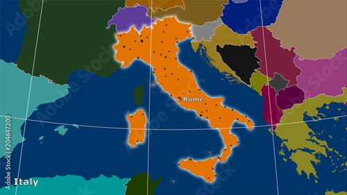 Włochy, podziały administracyjne - skład