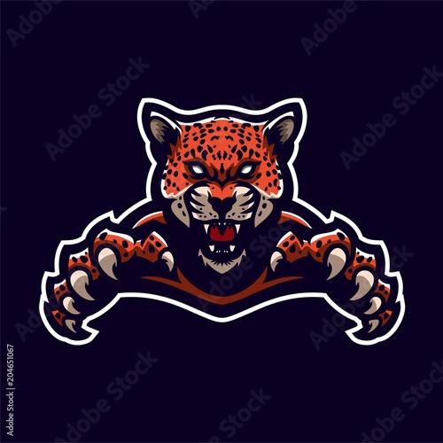 jaguar leopard esport gaming mascot logo template buy photos ap